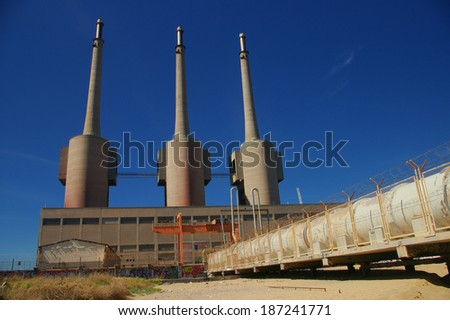 Abandoned factory in Barcelona - stock photo
