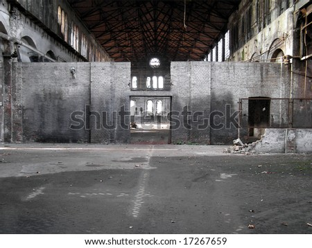 Abandoned factory industrial archeology architecture - stock photo