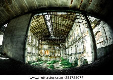 Abandoned Factory, Urbex - stock photo