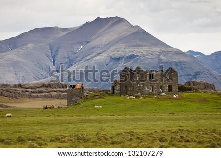 Abandoned farm - stock photo
