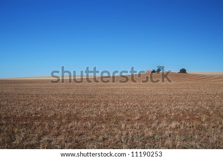 Abandoned farm in the Australian Outback