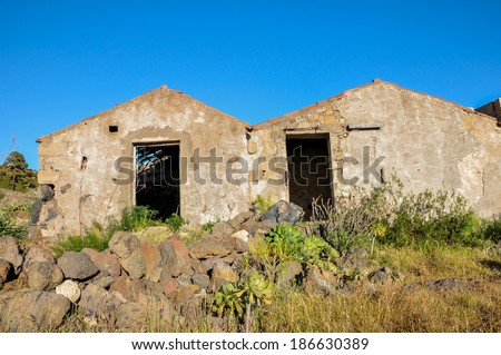 Abandoned Farmhouse On A Sunny Day In Tenerife