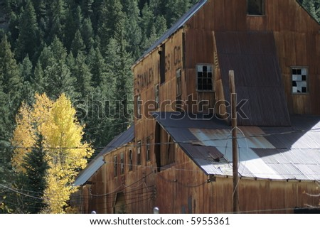 abandoned gold mine - stock photo