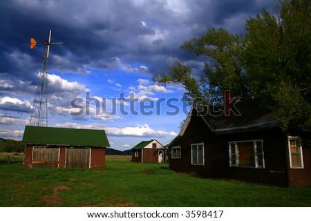 Abandoned homestead on Mormon Row, Grand Teton National Park, Wyoming - stock photo