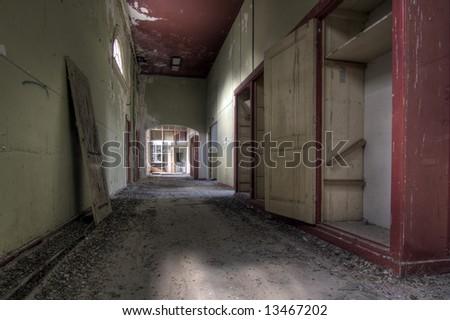 Abandoned Hospital - stock photo