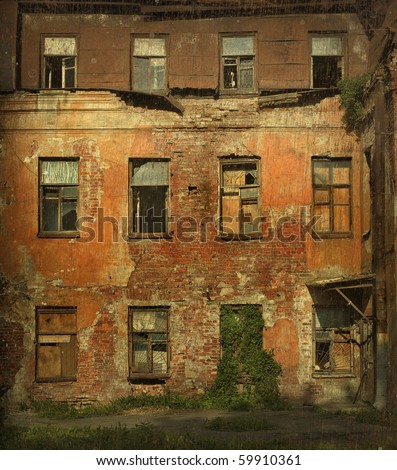 Abandoned house. - stock photo