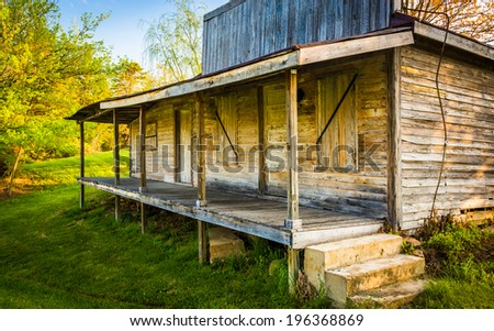 Abandoned house in the Shenandoah Valley, Virginia. - stock photo