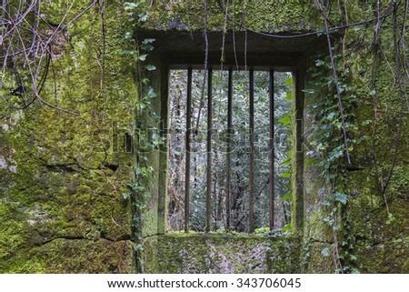 Abandoned house in Vilaboa (Spain) - stock photo