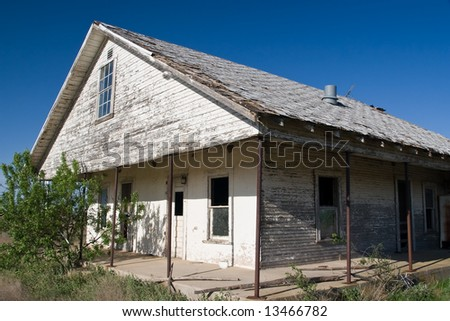Abandoned House on Texas Farm - stock photo