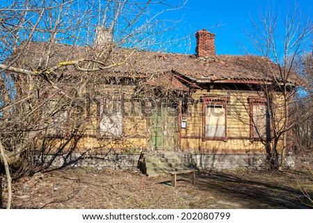 Abandoned house. Tallinn, Estonia, Europe - stock photo