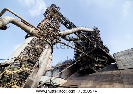 Abandoned industrial factory - stock photo