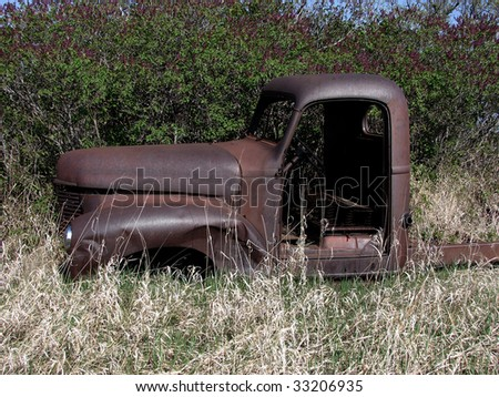 abandoned junked pickup