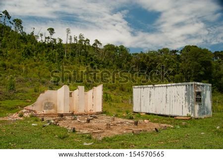 Abandoned Logging Area After End Natural Stock Photo - Natural resources of brazil