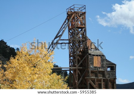abandoned mining equipment rusty and old