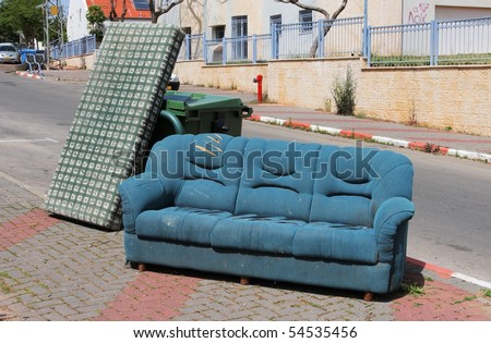 Abandoned old furniture. - stock photo