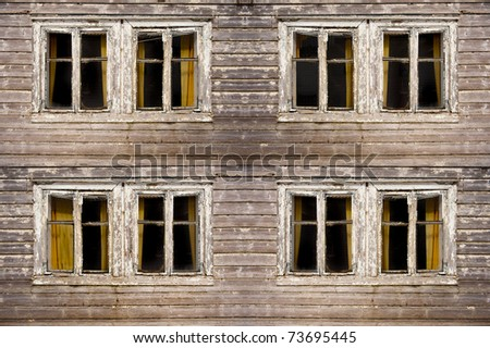 Abandoned old western building looking haunted - stock photo