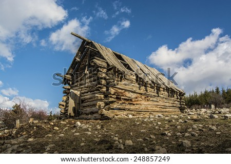 Abandoned old wooden House - stock photo