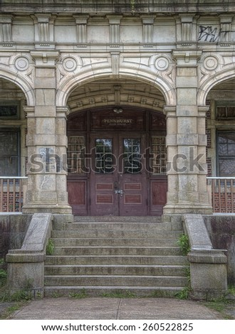 Abandoned Pennhurst Asylum in Pennsylvania - stock photo