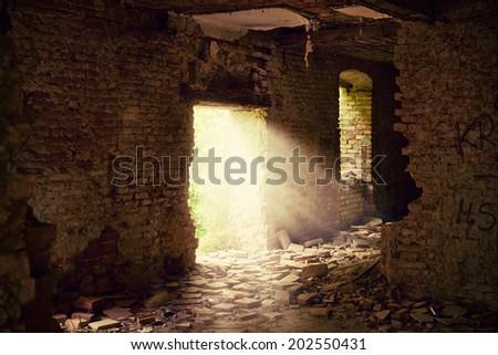 Abandoned place - stock photo
