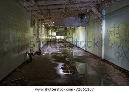 Abandoned pre-trial detention center and former prison farm, Atlanta, Georgia. - stock photo