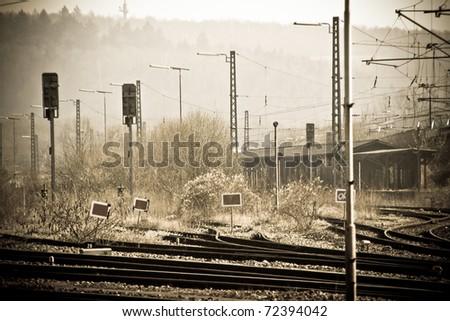 Abandoned railways - stock photo