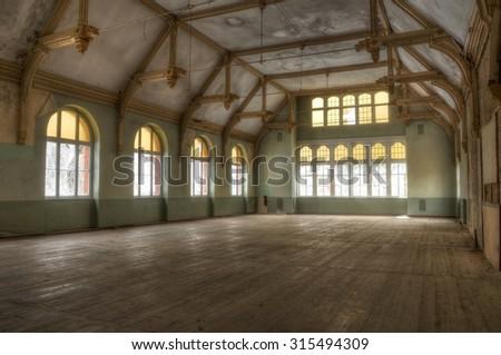 Abandoned room in the Beelitz Heilst�¤tten - stock photo