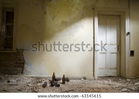 Abandoned Room with a white door