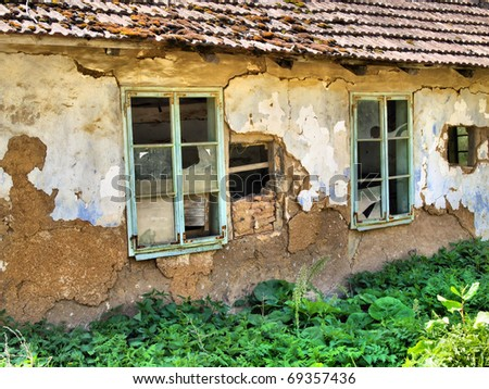 Abandoned ruined house / Serbia