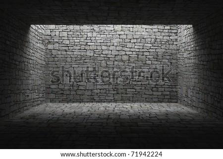 abandoned shelter - stock photo
