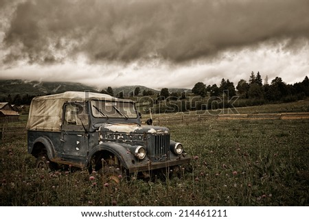 Abandoned vehicle - stock photo