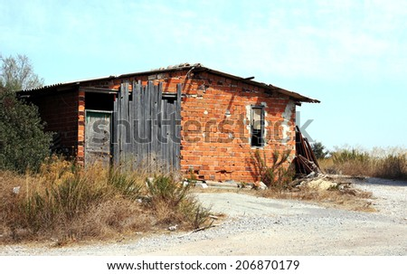 Abandoned Village House - stock photo