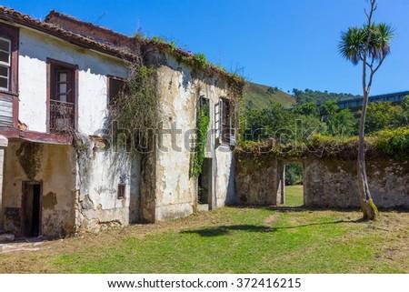 Abandoned village (San Antolin Bedon) Spain - stock photo