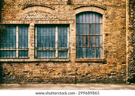 Abandoned windows - stock photo