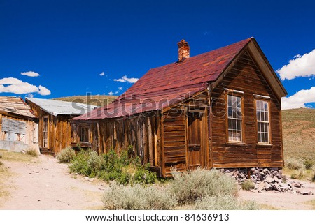 Abandonned building in Bodie, an original ghost town from the late 1800s - stock photo
