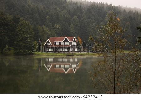 Abant Lake in bolu,Turkey. - stock photo