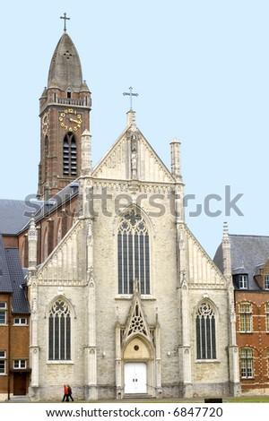 Abbey church in Tongerlo - stock photo