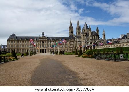 Abbey in Caen - stock photo