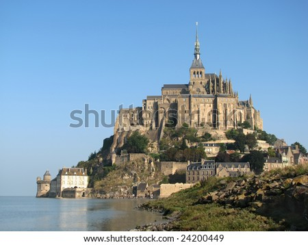 Abbey Mont Saint-Michel in France, Normandy - stock photo