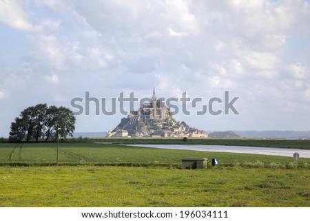 Abbey of Mont Saint Michel, Normandy, France  - stock photo