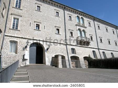 Abbey of Monte Cassino - stock photo