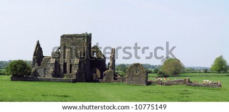 Abbey's Downfalls near Rock of Cashel, Ireland - stock photo