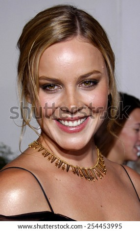 "Abbie Cornish attends the Los Angeles Premiere of ""Elizabeth: The Golden Age"" held at the Gibson Amphitheater Universal City Walk in Universal City, California, United States on October 1, 2007."