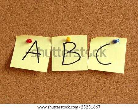 ABC... - stock photo