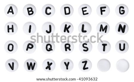 ABC Alphabet buttons - stock photo