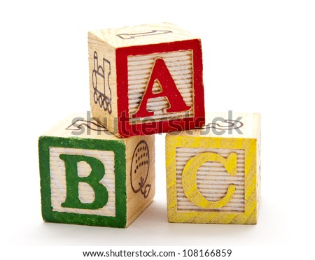 ABC Blocks - stock photo