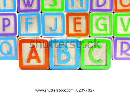 abc blocks - stock photo
