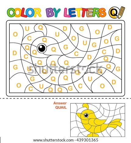 Abc Coloring Book Kids Color By Stock Illustration 439301548 ...