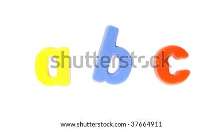 ABC - Colourful Fridge Magnets, Set of Letters - stock photo