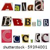 ABC letters - stock photo