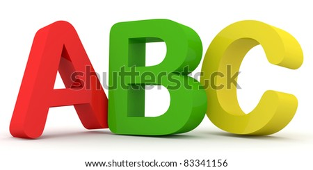 ABC Letters (Hight Resolution 3d Image) - stock photo